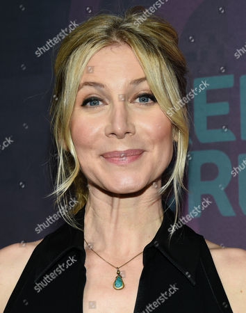 Actress Elizabeth Mitchell attends the ABC Freeform 2016 Upfront at Spring Studios, in New York