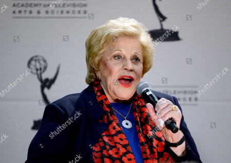 """JANUARY 31: Actor Kaye Ballard participates in the Academy of Television Arts & Sciences Presents """"Retire From Showbiz? No Thanks!"""" panel at the Academy of Television Arts & Sciences on in North Hollywood, California"""
