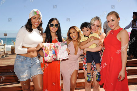 Editorial image of Adrienne Bailon celebrates her Cosmo for Latinas cover at the JustFab Beach House powered by Kia, Malibu, USA