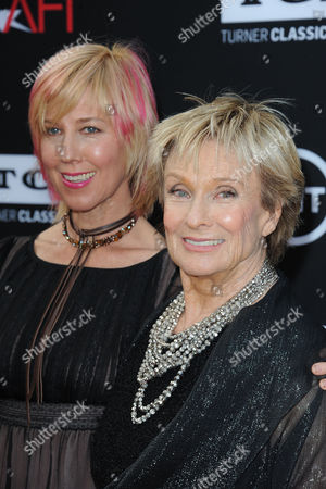 Stock Image of Cloris Leachman, at right, and her daughter, Dinah Englund, arrives at the American Film Institute's 41st Lifetime Achievement Gala at the Dolby Theatre on Thursday, June6, 2013 in Los Angeles