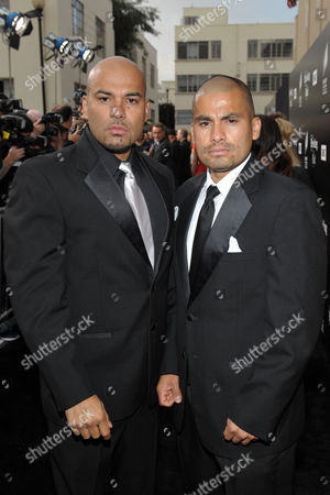 Actors Lewis Moncada, left, and Daniel Moncada attend AMC's and Sony Pictures Television's celebration for the final episodes of 'Breaking Bad' on the Sony Lot on in Los Angeles