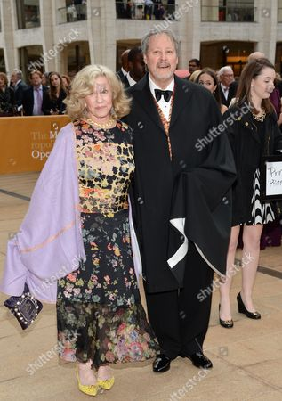 Erica Jong and Ken Burrows attend the American Ballet Theatre's 75th Anniversary Diamond Jubilee Spring Gala at Metropolitan Opera House, in New York