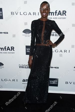 Stock Photo of Angelique Deng attends the amfAR Gala on in New York