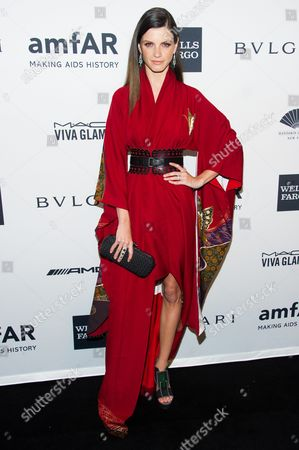 Jeisa Chiminazzo attends the amfAR Gala on in New York