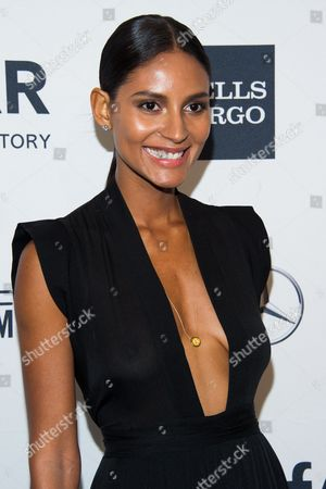Emanuela de Paula attends the amfAR Gala on in New York