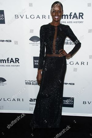Stock Picture of Angelique Deng attends the amfAR Gala on in New York