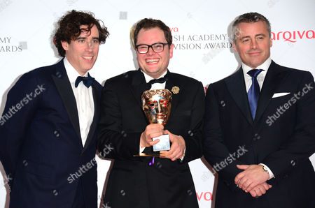 Stephen Mangan, Alan Carr and Matt Le Blanc at the Arqiva British Academy Television Awards BAFTA in London on Sunday, May 12th, 2013
