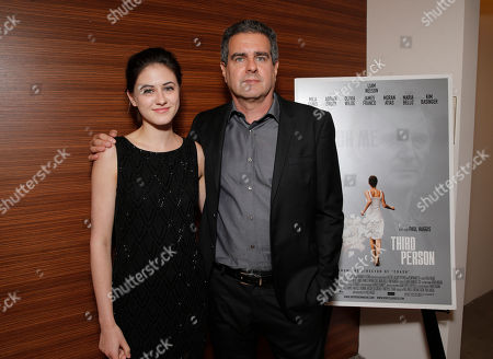 Stock Picture of Remy Nozik and Producer Michael Nozik attends the Artists for Peace & Justice Special Screening of Sony Pictures Classics and Paul Haggis' Third Person, in Los Angeles