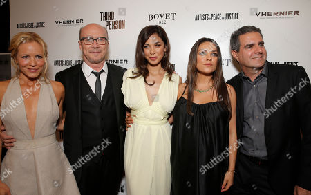 Maria Bello, Producer/Director Paul Haggis, Moran Atias, Milla Kunis and Producer Michael Nozik attend the Artists for Peace & Justice Special Screening of Sony Pictures Classics and Paul Haggis' Third Person, in Los Angeles