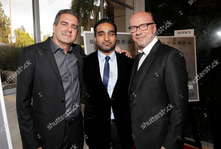 Producer Michael Nozik, Executive Producer Fahar Faizaan and Producer Director Paul Haggis attend the Artists for Peace & Justice Special Screening of Sony Pictures Classics and Paul Haggis' Third Person, in Los Angeles