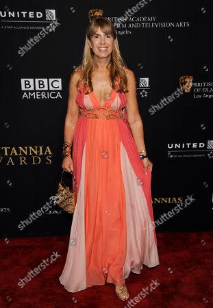 Julia Verdin arrives at the BAFTA Los Angeles Britannia Awards at the Beverly Hilton Hotel, in Beverly Hills, Calif