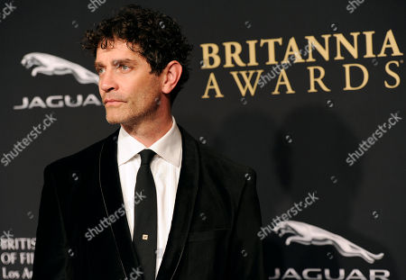James Frain arrives at the BAFTA Los Angeles Britannia Awards at the Beverly Hilton Hotel, in Beverly Hills, Calif