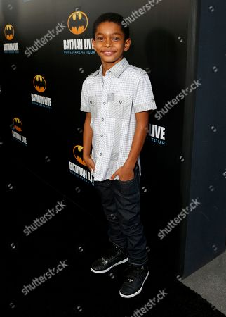 Sayeed Shahidi arrives at the L.A. Batman Live Premiere, at STAPLES Center in Los Angeles