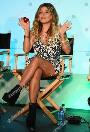 Stock Image of Kate Albrecht attends BeautyCon Los Angeles 2014 in Partnership with Elle at LA Mart, in Los Angeles
