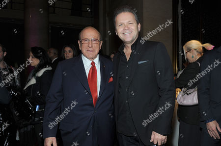 Clive Davis, left, and Michael Martin seen at Billboard Women in Music at Cipriani Wall Street, in New York