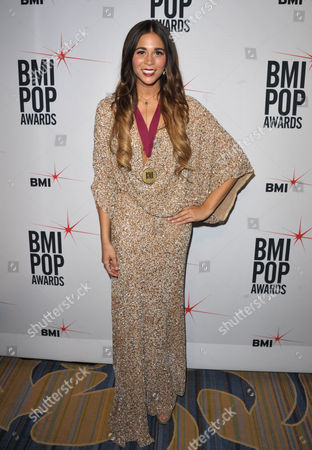 """Ali Tamposi attends the """"BMI 61st Annual Pop Awards"""" at The Beverly Wilshire Hotel on in Beverly Hills, Calif"""
