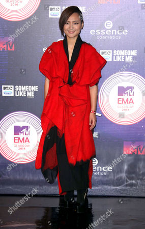 Stock Image of Bibi Zhou arrives for the 2014 MTV European Music Awards in Glasgow