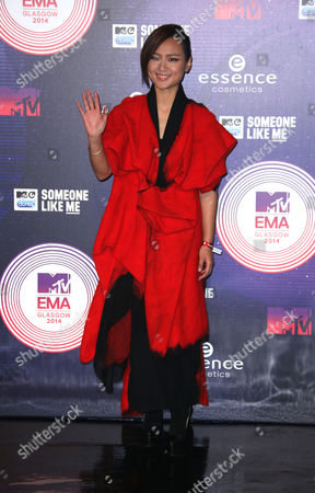 Editorial picture of Britain 2014 MTV EMA Arrivals, Glasgow, United Kingdom