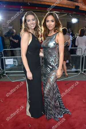 Amy Dickson and Myleene Klass arrive at the Classic BRIT Awards 2013 at the Royal Albert Hall,, in London