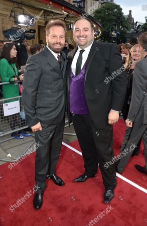 Alfie Boe and Wynne Evans arrive at the Classic BRIT Awards 2013 at the Royal Albert Hall,, in London