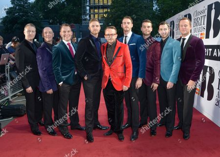 Only Men Aloud arrives at the Classic BRIT Awards 2013 at the Royal Albert Hall,, in London