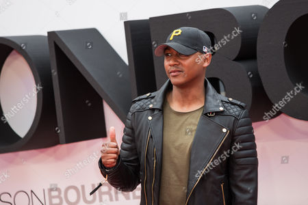 Rickie Haywood-Williams poses for photographers upon arrival at the European premiere of the film 'Jason Bourne' in London