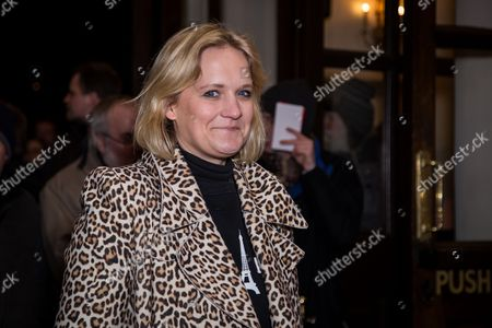 Bella Younger poses for photographers upon arrival at the world premiere of the play 'The End Of Longing' in London