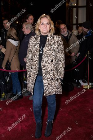 Stock Photo of Bella Younger poses for photographers upon arrival at the world premiere of the play 'The End Of Longing' in London