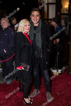 Stock Picture of Susanne Shaw and Noel Sullivan pose for photographers upon arrival at the world premiere of the play 'The End Of Longing' in London