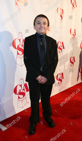 Atticus Shaffer arrives at the 2012 Casting Society of America Artios Awards held at the Beverly Hilton Hotel on in Beverly Hills, Calif