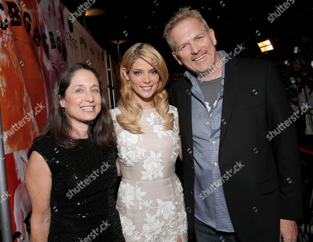 Writer Jody Savin, Ashley Greene and Director Randall Miller attend the CBGB West Coast Premiere Powered by Ciroc at the ArcLight Hollywood on in Beverly Hills, Calif