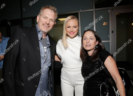 Director Randall Miller, Malin Akerman and Writer Jody Savin attend the CBGB West Coast Premiere Powered by Ciroc at the ArcLight Hollywood on in Beverly Hills, Calif