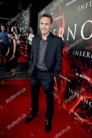 """Jon Donahue seen at Columbia Pictures Presents in Association with Imagine Entertainment the Los Angeles Special Red Carpet Screening of """"Inferno"""" at The DGA, in Los Angeles"""