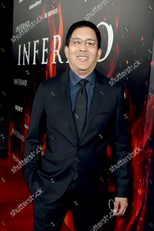 "Scott Takeda seen at Columbia Pictures Presents in Association with Imagine Entertainment the Los Angeles Special Red Carpet Screening of ""Inferno"" at The DGA, in Los Angeles"