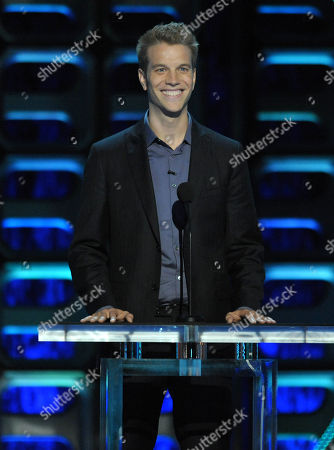 """Anthony Jeselnik appears on stage at the Comedy Central """"Roast of Roseanne"""" at the Hollywood Palladium, in Los Angeles"""