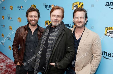 Rob Benedict, Mark Hamill and Richard Speight Jr. seen at the Lionsgate, Comic-Con HQ and Amazon Channels celebration for the new seasons of Con Man, Kings of Con and Mark Hamill's Pop Culture Quest at the Paley Center in Beverly Hills