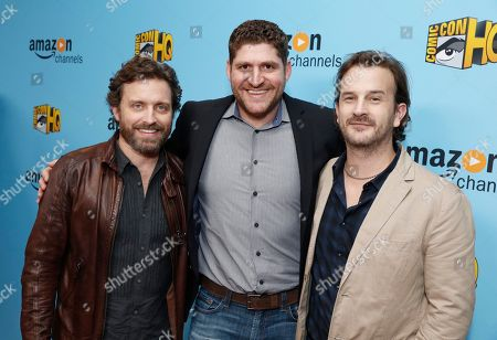 Rob Benedict, Seth Laderman, EVP and GM for Comic-Con HQ, and Richard Speight Jr. seen at the Lionsgate, Comic-Con HQ and Amazon Channels celebration for the new seasons of Con Man, Kings of Con and Mark Hamill's Pop Culture Quest at the Paley Center in Beverly Hills