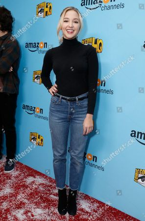 Audrey Whitby seen at the Lionsgate, Comic-Con HQ and Amazon Channels celebration for the new seasons of Con Man, Kings of Con and Mark Hamill's Pop Culture Quest at the Paley Center in Beverly Hills