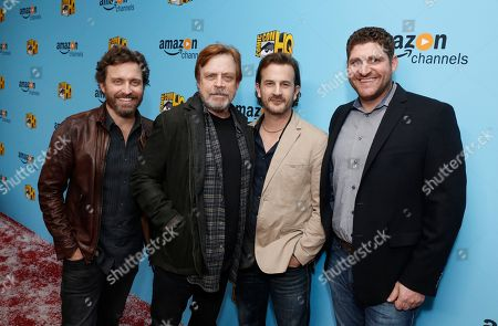 Rob Benedict, Mark Hamill, Richard Speight Jr. and Seth Laderman, EVP and GM for Comic-Con HQ, seen at the Lionsgate, Comic-Con HQ and Amazon Channels celebration for the new seasons of Con Man, Kings of Con and Mark Hamill's Pop Culture Quest at the Paley Center in Beverly Hills