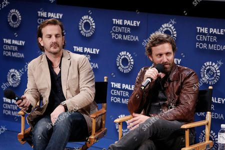 Richard Speight Jr. and Rob Benedict seen at the Lionsgate, Comic-Con HQ and Amazon Channels celebration for the new seasons of Con Man, Kings of Con and Mark Hamill's Pop Culture Quest at the Paley Center in Beverly Hills