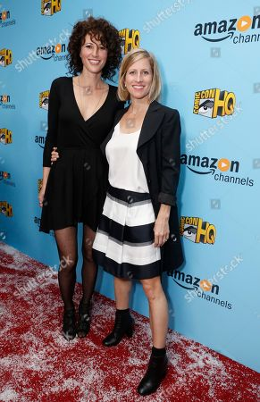 Marisa Grieco and Charissa Barton seen at the Lionsgate, Comic-Con HQ and Amazon Channels celebration for the new seasons of Con Man, Kings of Con and Mark Hamill's Pop Culture Quest at the Paley Center in Beverly Hills