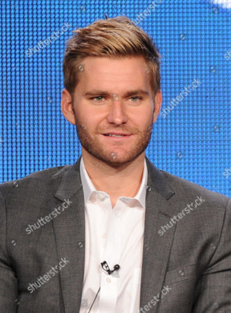 """Cast member Rick Donald participates in the """"Friends With Better Lives"""" panel at the CBS Winter TCA Press Tour, on at the Langham Huntington, in Pasadena, Calif"""