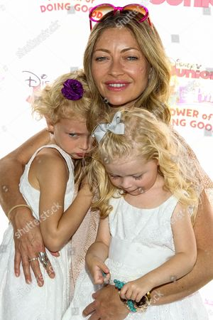 "Stock Picture of Rebecca Gayheart with daughters Billie Beatrice Dane and Georgia Dane attend the Disney Junior's ""Pirate And Princess: Power Of Doing Good"" Tour event at Brookside Park, in Pasadena, Calif"