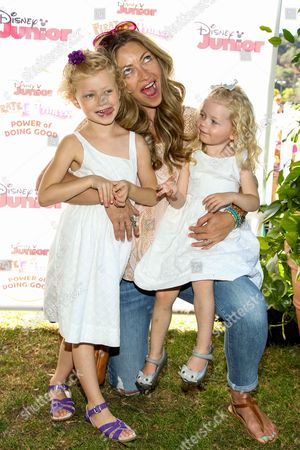 """Rebecca Gayheart with daughters Billie Beatrice Dane and Georgia Dane attend the Disney Junior's """"Pirate And Princess: Power Of Doing Good"""" Tour event at Brookside Park, in Pasadena, Calif"""