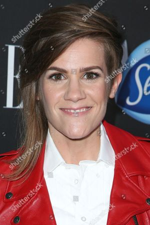 Cameron Esposito arrives at the ELLE Women in Comedy Event at Hyde Sunset, in Los Angeles