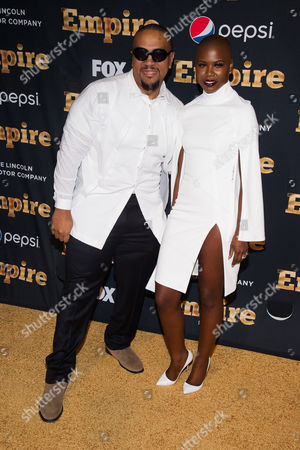 """Stock Image of Timbaland and Veronika Bozeman attend the """"Empire"""" season two premiere on in New York"""