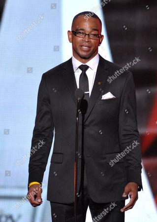 Stuart Scott speaks onstage at the ESPY Awards, in Los Angeles