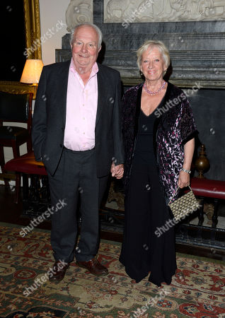Shane Rimmer, Sheila Rimmer poses at Everything or Nothing - The Untold Story of 007 After Party at Odeon West End on in London