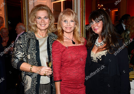 Stock Photo of Valerie Leon, Sue Vanner, Caroline Munro poses at Everything or Nothing - The Untold Story of 007 After Party at Odeon West End on in London