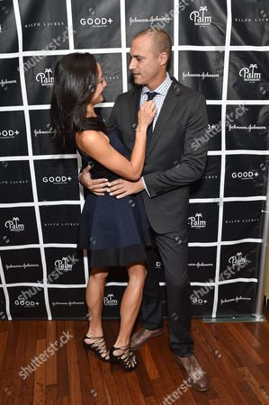 Nigel Barker and wife Cristen Barker attend the New York Fatherhood Lunch to benefit the Good+ Foundation at The Palm Tribeca, in New York